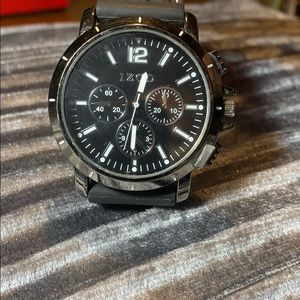 Izod Black and stainless steel men watch